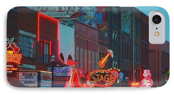 Nashville Strip Lit Up IPhone Case