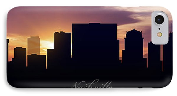 Nashville Sunset IPhone Case by Aged Pixel