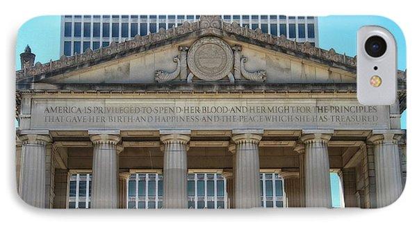 Nashville War Memorial Auditorium Phone Case by Dan Sproul
