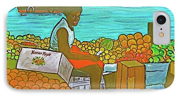 Nassau Fruit Seller IPhone Case by Frank Hunter