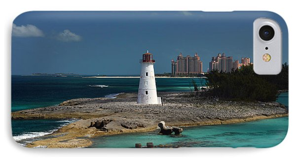 IPhone Case featuring the photograph Nassau Harbour Lighthouse by Bill Swartwout