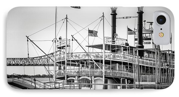 Natchez Steamboat In New Orleans Black And White Picture IPhone Case
