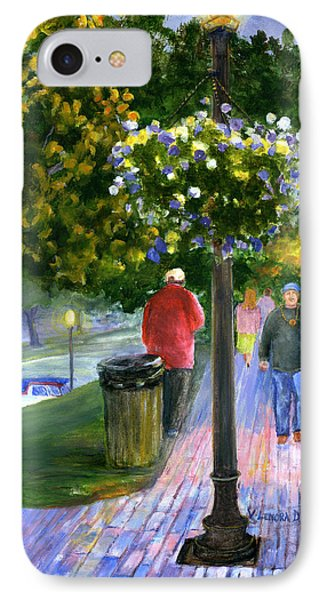 IPhone Case featuring the painting Natchitoches Front Street Cane River by Lenora  De Lude