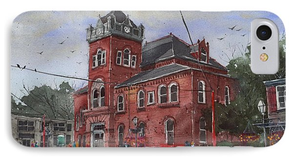 IPhone Case featuring the painting Natchitoches Parish Courthouse by Tim Oliver