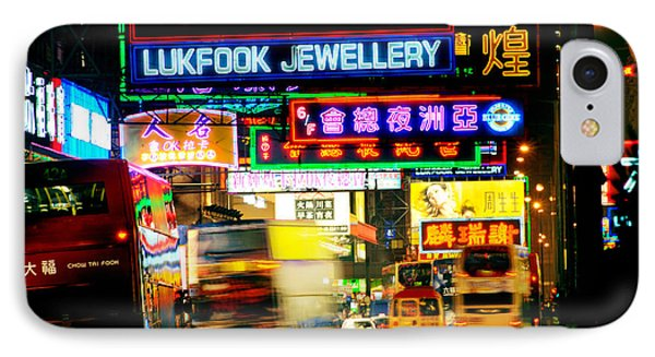 Nathan Road Hong Kong  IPhone Case by Colin Woods