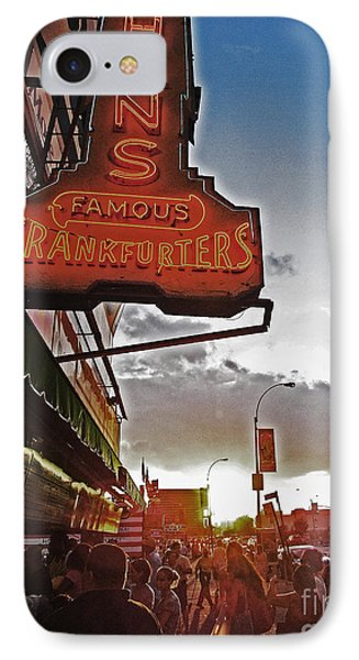IPhone Case featuring the photograph Nathan's Famous Coney Island Sunset Frankfurters by Andy Prendy
