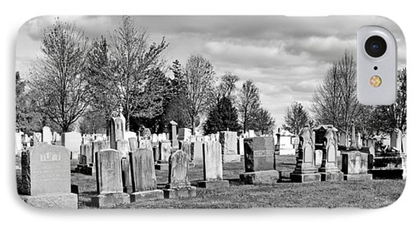 National Cemetery - Gettysburg Battlefield IPhone Case by Brendan Reals