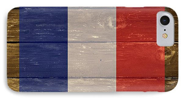 France National Flag On Wood IPhone Case by Movie Poster Prints