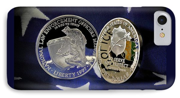 National Law Enforcement Memorial Mint IPhone Case by Gary Yost