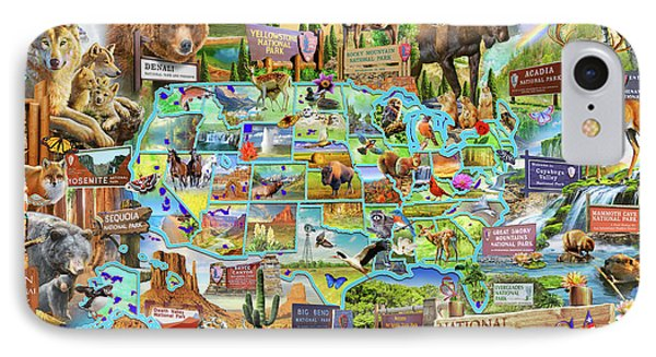 National Parks Of America IPhone Case