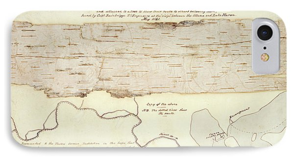 Native American Birch-bark Map IPhone Case by British Library