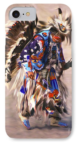 Native American Dancer IPhone Case by Clare VanderVeen