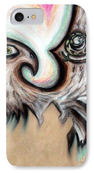 Native American Eye Of The Eagle 1 IPhone Case by Ayasha Loya