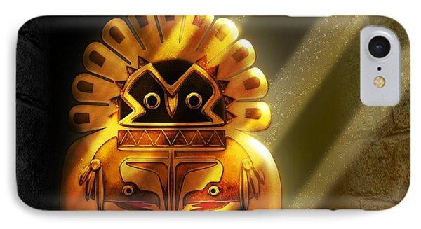 Native American Hawk Spirit Gold Idol IPhone Case