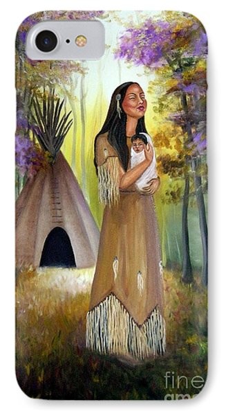 Native American Mother And Child IPhone Case