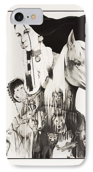 Native American Mother's Life Journey IPhone Case by Joe Lisowski