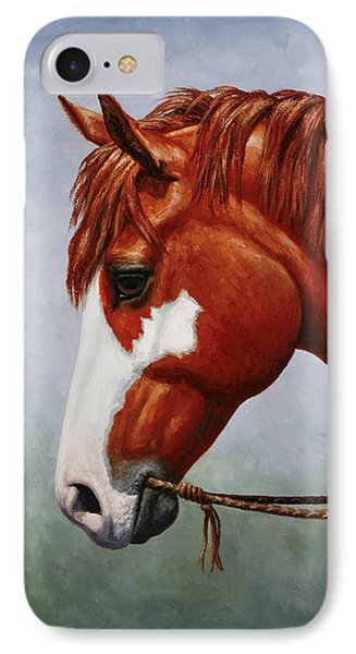 Native American Pinto Horse IPhone Case by Crista Forest