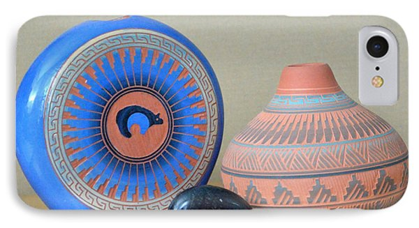 Native American Pottery IPhone Case by Lena Wilhite