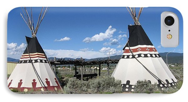 IPhone Case featuring the photograph Native American Teepees by Dora Sofia Caputo Photographic Art and Design