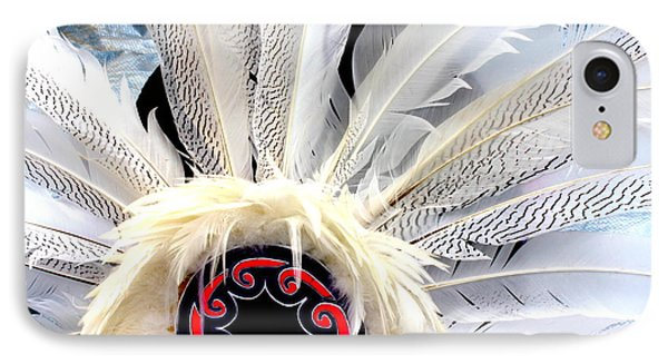 Native American White Feathers Headdress IPhone Case