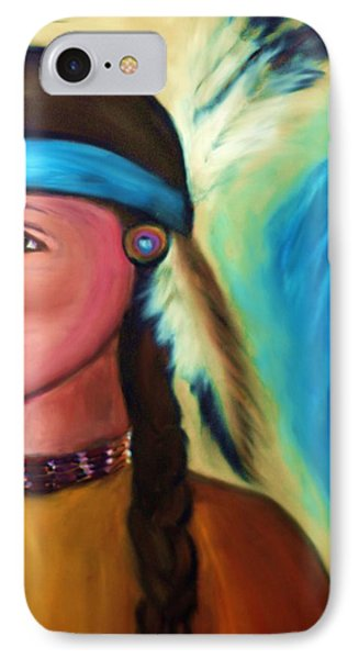 IPhone Case featuring the painting Native American Woman 1 by Ayasha Loya