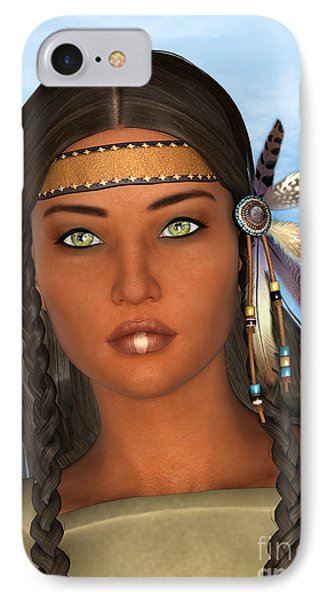 Native American Woman Phone Case by Design Windmill