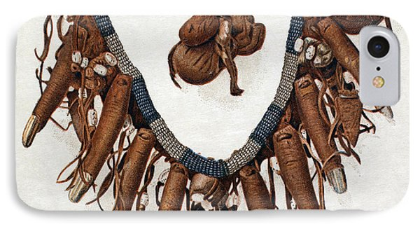 Native Americans Finger Necklace IPhone Case by Granger