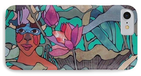Native And Flower Phone Case by Glenn Calloway