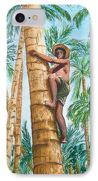 Native Climbing Palm Tree IPhone Case
