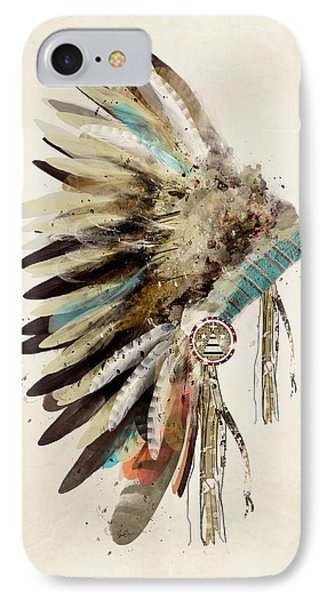 Native Headdress IPhone Case by Bri B