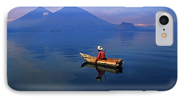 Native Mayan Fisherman On Lake Atitlan Phone Case by Thomas R Fletcher