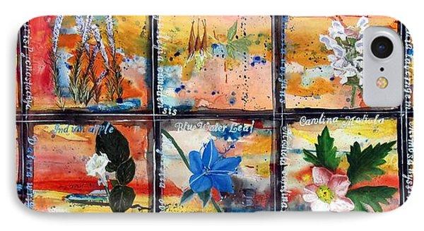 native Texas wildflowers B IPhone Case