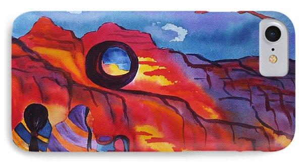 Native Women At Window Rock IPhone Case by Ellen Levinson