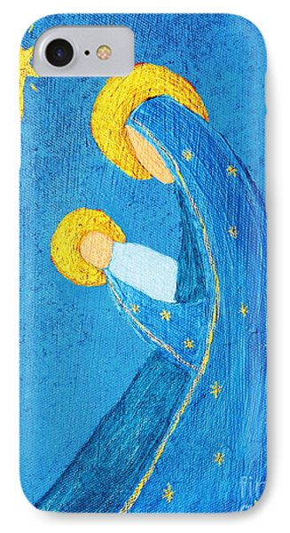 Nativity In Blue IPhone Case by Pattie Calfy