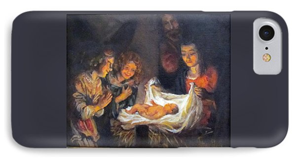 IPhone Case featuring the painting Nativity Scene Study by Donna Tucker