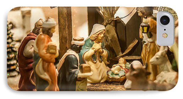 IPhone Case featuring the photograph Nativity Set by Alex Grichenko