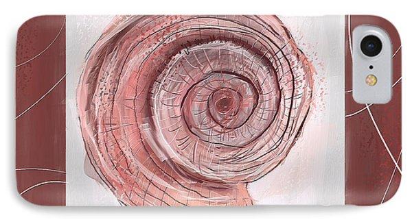 Natural Allure- Marsala Pantone 18-1438 IPhone Case