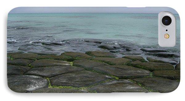 Natural Forming Pentagon Rock Formations Of Kumejima Okinawa Japan Phone Case by Jeff at JSJ Photography