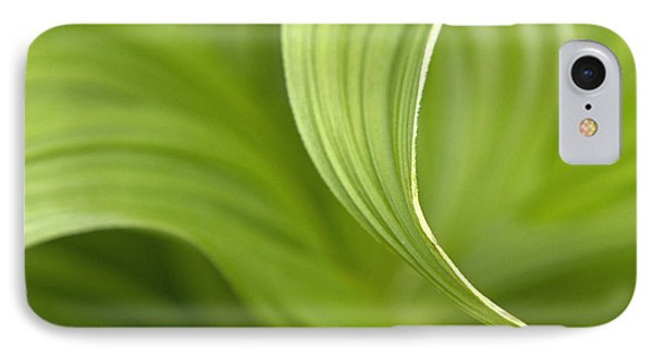 Natural Green Curves Phone Case by Claudio Bacinello