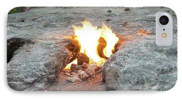 Natural Methane Flame IPhone Case by Maria Platt-evans