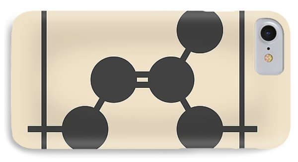 Natural Rubber Polymer Molecule IPhone Case by Molekuul