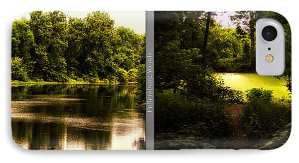 Nature Center 01 End Of Path Fullersburg Woods 2 Panel IPhone Case by Thomas Woolworth