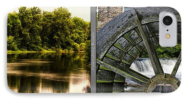 Nature Center 01 Grist Mill Wheel Fullersburg Woods 2 Panel IPhone Case