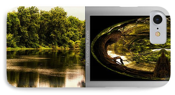 Nature Center 01 Wood Polar View Fullersburg Woods 2 Panel IPhone Case by Thomas Woolworth