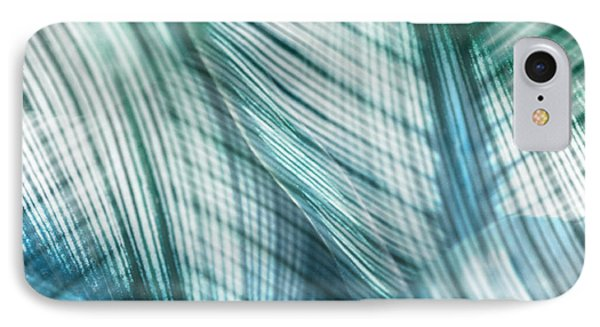 Nature Leaves Abstract In Turquoise And Jade Phone Case by Natalie Kinnear