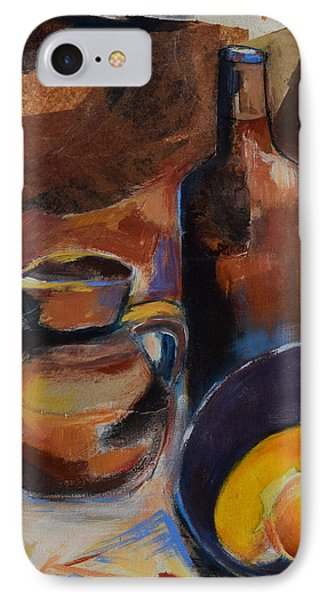 IPhone Case featuring the painting Still Life Sepia by Elise Palmigiani