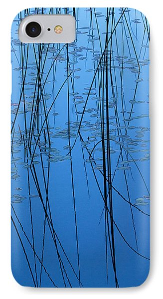 IPhone Case featuring the photograph Nature's Abstract In Blue 2 by Peggy Collins