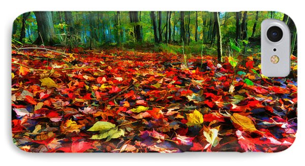 Natures Carpet In The Fall Phone Case by Dan Friend