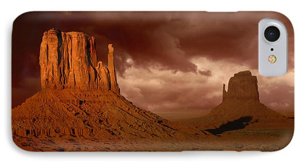 Natures Fury In Monument Valley Arizona Phone Case by Katrina Brown
