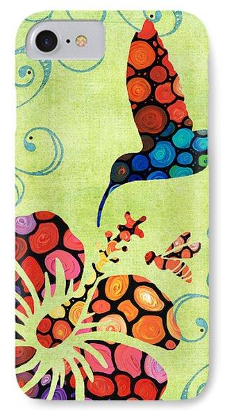 Nature's Harmony 2 - Hummingbird Art By Sharon Cummings IPhone Case by Sharon Cummings